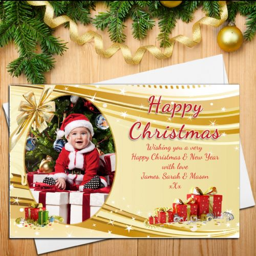 10 Personalised Family Christmas Xmas PHOTO Post Cards N27